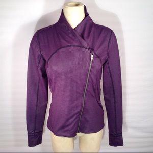 Lululemon Athletica Purple zip Jacket Size 10
